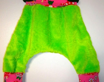 Harem pants 1 months scalable minky