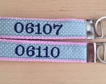 zip code keychain