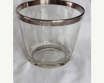 On Sale 25% OFF Vintage Mid Century Dorothy Thorpe Silver on Crystal Ice Bucket