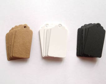 10 mini Tags labels American 2 cm * 4 cm
