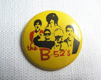 Vintage 80s - The B-52's - Pin / Button / Badge