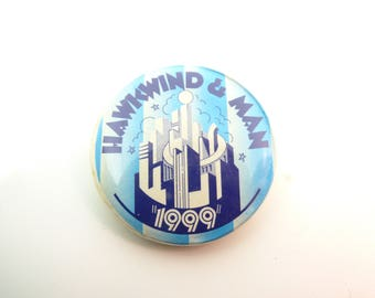 RARE Vintage 70s Hawkwind - The 1999 Party Album (1974) Pin / Button / Badge
