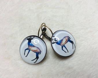 The blue reindeer (GM) earrings