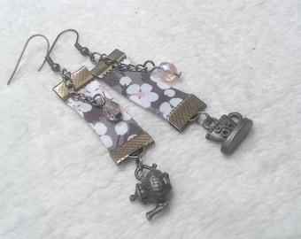 Grey Liberty Tea time earrings