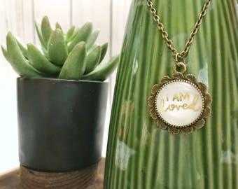 Catholic Jewelry * * Christian Jewelry * Catholic Pendant Necklace * Mini Pendant Necklace * Handlettered Pendant Necklace * Gifts for Her