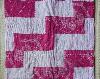 Zokin, vintage Japanese dust rag, sashiko-stitched