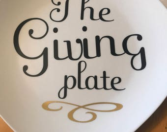 Personalize a plate!