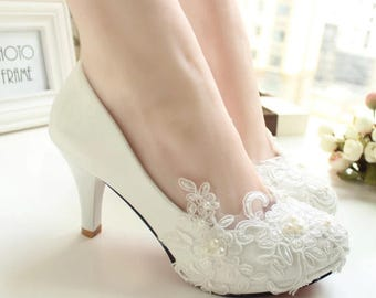 Lace material on shoes wedding shoes pre order one month in advance brides shows event shoes weddings