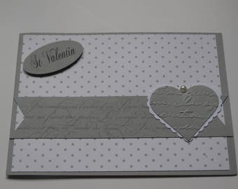 Valentine's Day card little grey dots