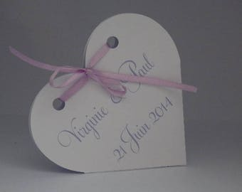 Candle white leaning heart box