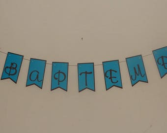 Butterfly christening banner