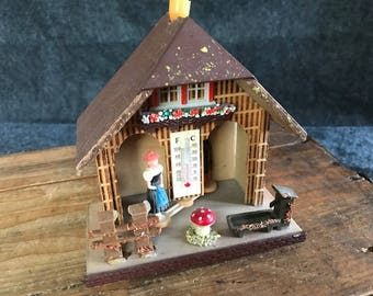 Vintage West German weather house