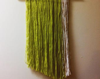 Lime & white wall hanging