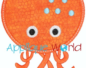 Octopus Applique Embroidery