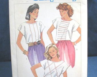 Vintage Simplicity Pattern 6808 Misses Blouses Size 12