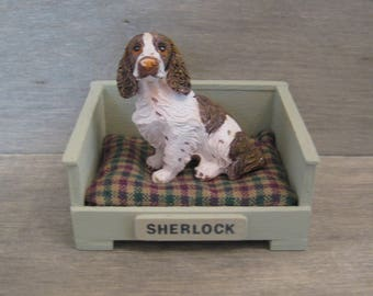 1/12th Scale Dog Bed with Dog - Medium