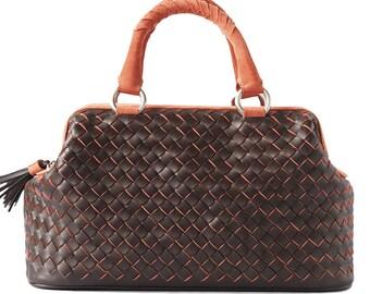 Leather Bag Valise Aurora Leather Tote Bags, Designer Handbags on Sale
