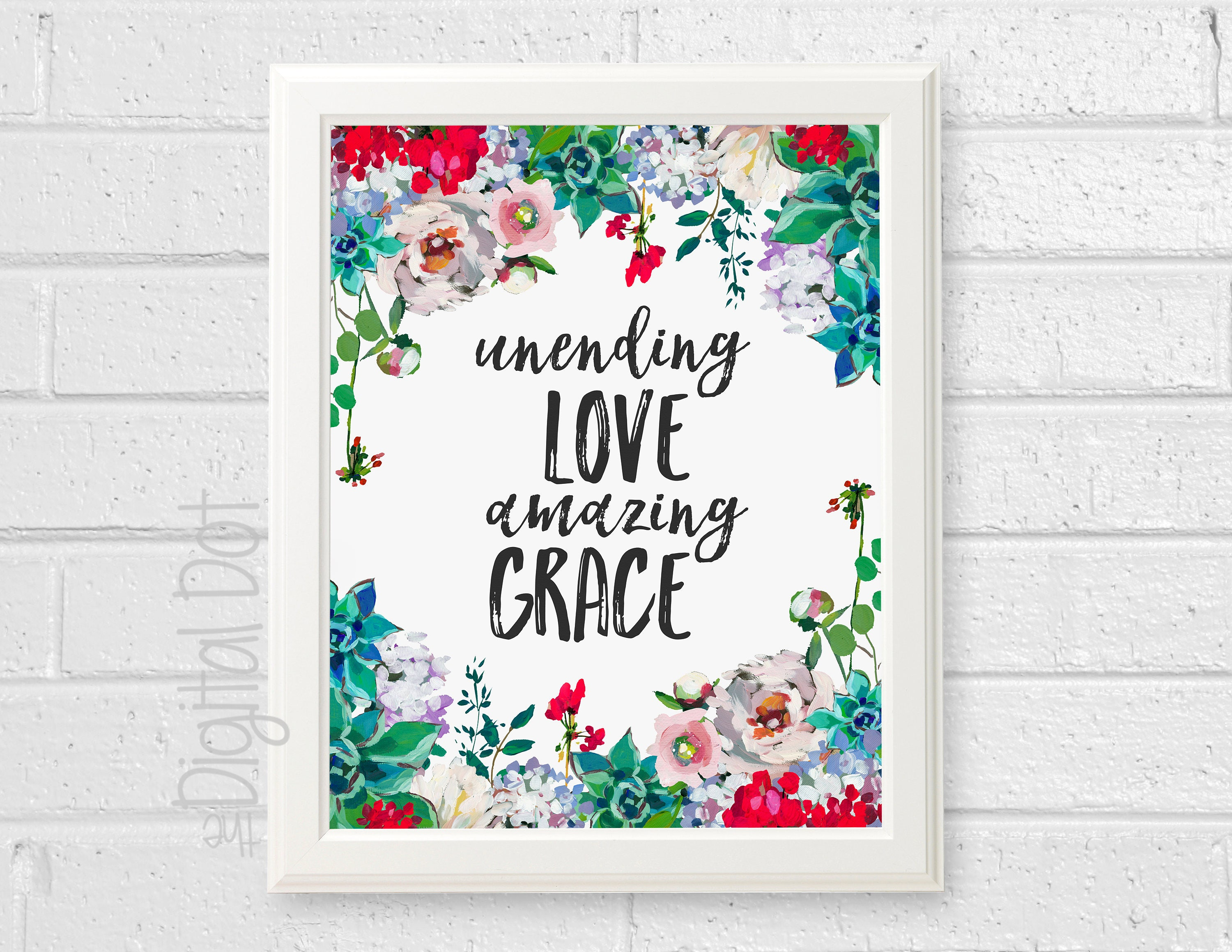 Christian Wall Art Print Amazing Grace Wall Art Printable