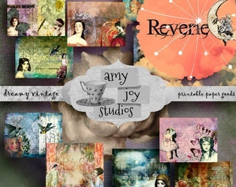 Reverie  Digital Journal Kit  Printable Junk Journal  Ephemera Pack  Vintage Journal  Art Nouveau  Junk Journal Vintage Printable DIY Paper