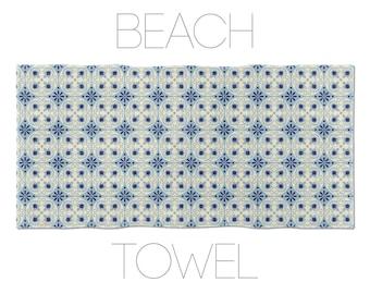 Barcelona Towels, Beach Towel, Barcelona Tiles, Ceramic Tile Art, Cool Beach Towel, Hotel Towels, Barcelona Art