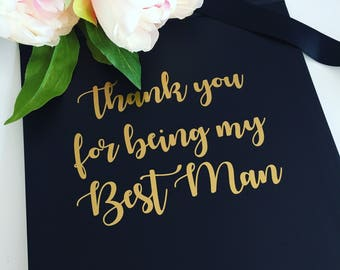 Thank you for being my best man box, best man gift box, groomsman gift box, usher gift box, wedding thank you keepsake box, best man gift