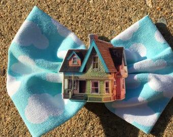 Disney Pixar Up house handmade hair bow