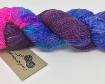 "Variegated Hand Dyed Yarn - ""Nebula"" - sparkle - 4ply/sock - 100g - 400m"