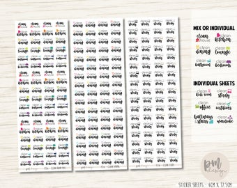 Weekly Room Clean Stickers - Planner Stickers - FS56