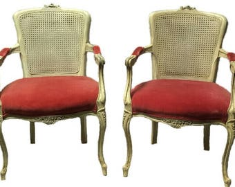 Pair of Vintage French Country Chairs