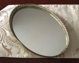 Mirrored Vanity Tray Dresser Tray