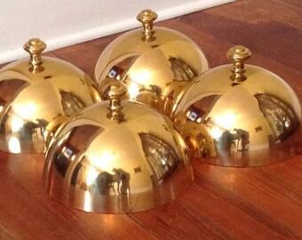 Vintage Brass Food Domes---set of 4