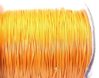 Saffron yellow 0.5 mm waxed cotton