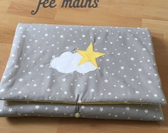 Stock changing mat nomadic grey star and yellow
