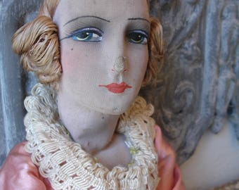 Antique boudoir doll from france