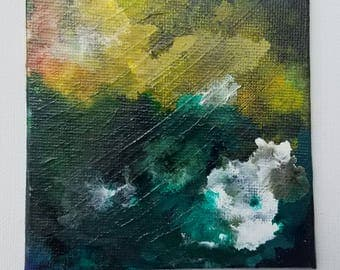 "Abstract Acrylic Painting titled- ""Late Day Seafoam"""