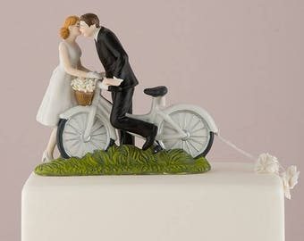 modern wedding cake toppers uk bicycle cake topper etsy 17493