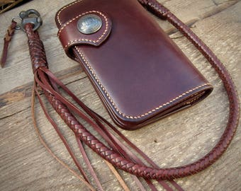 Combo large Biker wallet with Lanyard