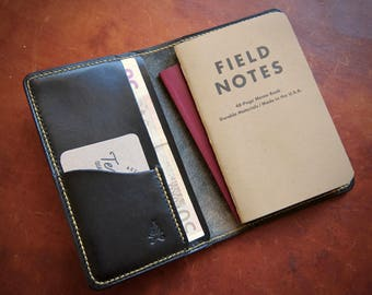 Leather Cover / Wallet For Field Notes Booklets and Passport