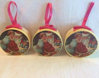 Vintage Christmas Box Ornaments