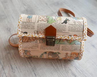 """Jacotte & cousins"" paper bag and leather strap"