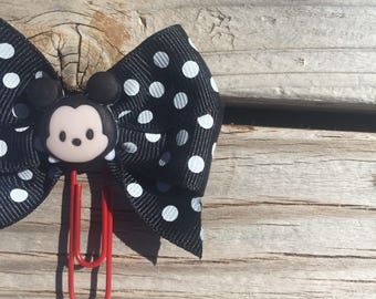 Tsum Tsum Mickey Mouse Disney Bow Planner Clip