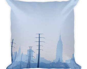 Looking into NYC Square Pillow