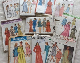 10 Vintage Nightdresses, Pyjamas and Dressing Gowns