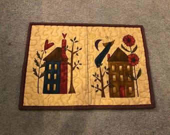 Dish Drying Mat - Houses