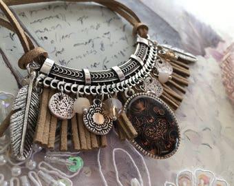 romantic necklace a little bit native American