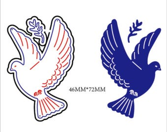 Stamping Mask Dove Peace Dove