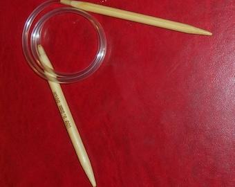 Knitting needle in bamboo natural 5.5 mm circular