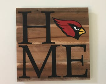 Arizona Cardinals HOME Sign  // Custom // Gifts for Her // Gifts for Him // Wedding // Pallet // Cardinals // NFL