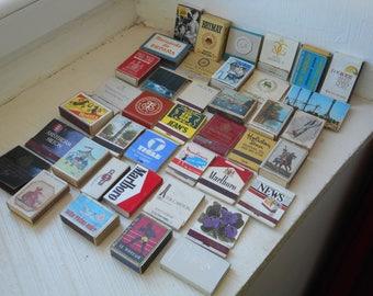 job lot of 40 vintage matchboxes / matchbooks