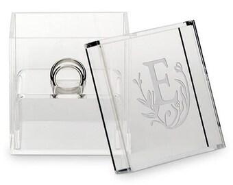 Perspex Acrylic Personalised Wedding Ring Box, Trinket Box, Keepsake Box- Fairytale Design